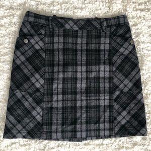 Eddie Bauer Plain Mini Skirt Gray/Black Wool Mix